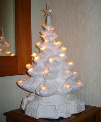 Extra Large Christmas Tree Ceramic Bisque Solway Ceramics